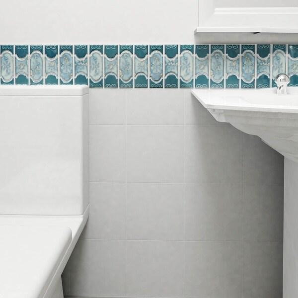 Somertile tryall emerald porcelain mosaic for 10 inch floor tiles