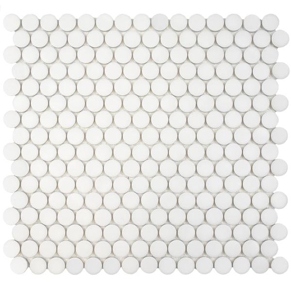 Somertile 12 x penny matte white porcelain for 12 x 12 white floor tile