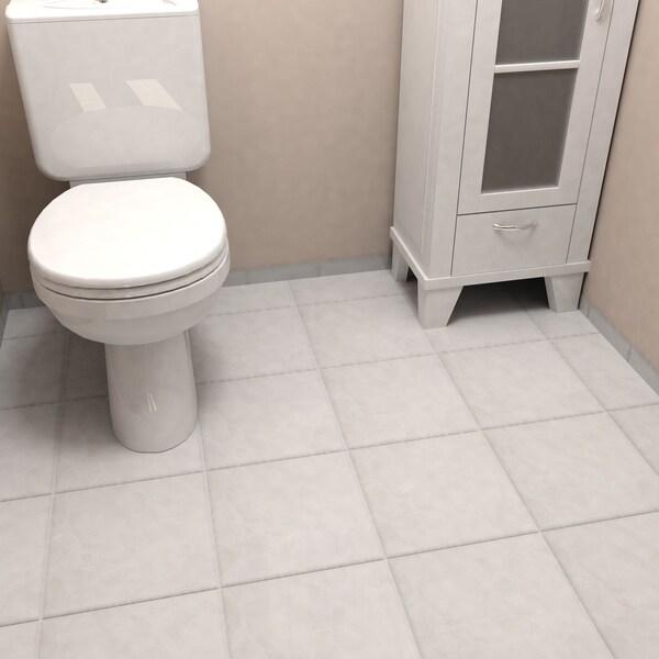 SomerTile 11.75x11.75-inch Zeta White Ceramic Floor and Wall Tile ...