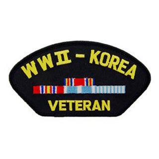 WWII and Korea Veteran Patch