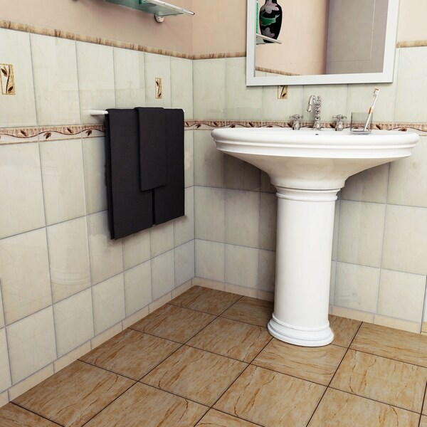 SomerTile Xinch Ravenna Base Beige Ceramic Wall Tile Case Of - 8 x 12 bathroom tiles