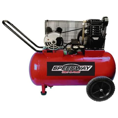 Speedway 2HP 20-gallon electric 2-cylinder Cast Iron Belt Drive Compressor