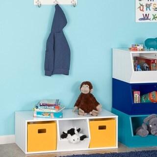RiverRidge Kids Storage Stacker With 2 Cubbies And 1 Veggie Bin