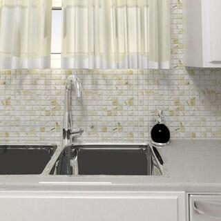 SomerTile 11.625x11.625-inch Carra White Porcelain Mosaic Floor and Wall Tile (10 tiles/9.59 sqft.)