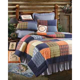 Northen Plaid Rustic Patchwork Quilt (Shams Not Included)