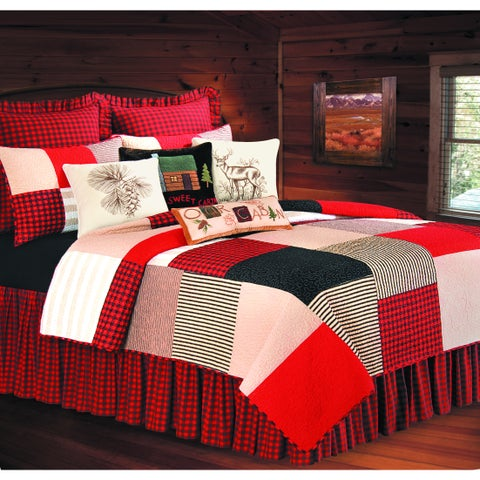 Boulder Ridge Cotton Lodge Themed Quilt (Shams Not Included)