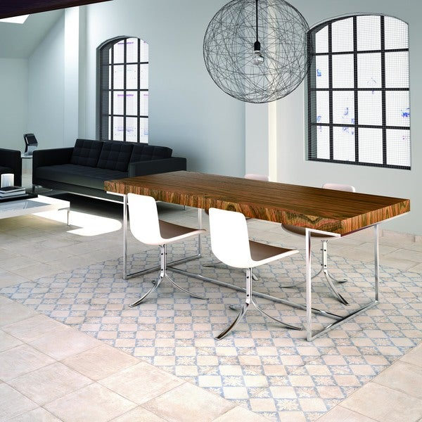 Somertile 13x13 inch alpina blanco d cor porcelain floor for 13 inch ceramic floor tile