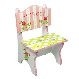 Fantasy Fields Crackled Rose Time Out Chair