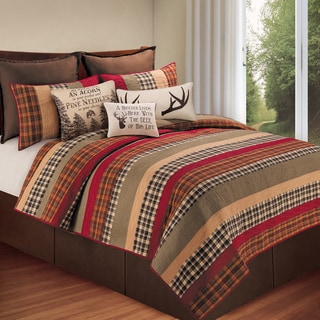 Hillside Haven Cotton Patchwork Quilt (Shams Sold Separately)