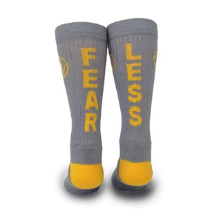 Inspyr Socks, Fear Less Athetic Lifestyle Crew Sock Large