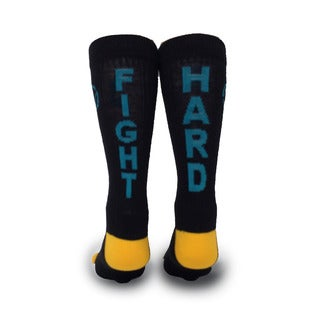 Inspyr Socks, Fight Hard Athetic Lifestyle Crew Sock Large