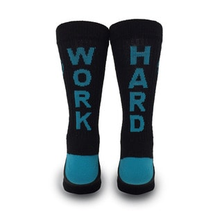 Inspyr Socks, Work Hard Athetic Lifestyle Crew Sock Large