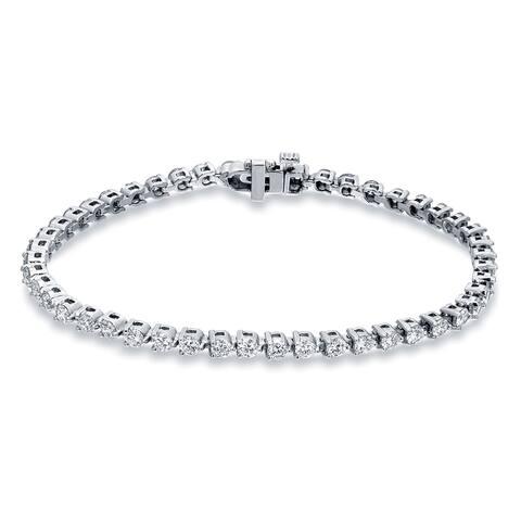 Auriya 3 3/4ctw Round Diamond Tennis Bracelet 14k Gold - 7-inch