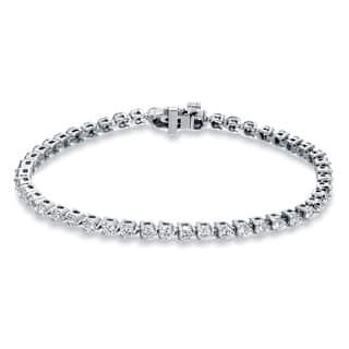 Auriya 14k Gold 3 3/4ct TDW Round Cut Diamond Tennis Bracelet|https://ak1.ostkcdn.com/images/products/10528723/P17611178.jpg?impolicy=medium