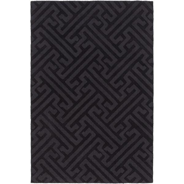 Hand-Loomed Mere Textured Wool Area Rug (5' x 7'6)