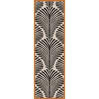 """Hand-Woven Darian Floral Wool Area Rug - 2'6"""" x 8'"""