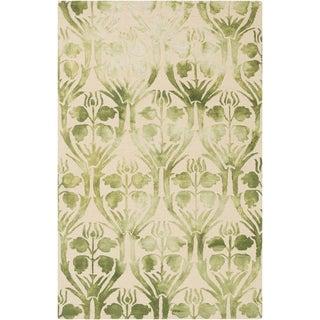 Hand-Hooked Rutland Floral Wool Rug (6' x 9')