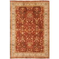 Hand-Knotted Witham Floral Wool Area Rug - 5'6 x 8'6'