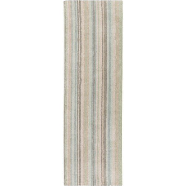 Hand-Loomed Jolene Stripe Wool Area Rug (2'6 x 8')