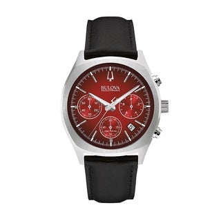 Bulova Accutron II 96B238 Men's Red Dial Stainless Steel Watch