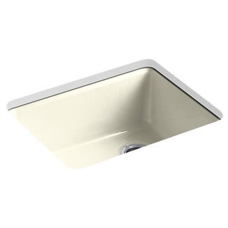 Kohler Riverby Undermount Cast Iron 25 inch 5-Hole Single Bowl Kitchen Sink in Cane Sugar
