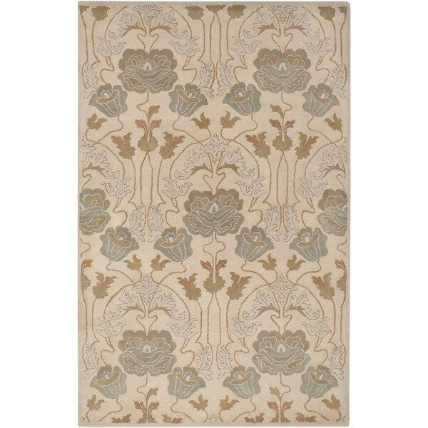 Hand-Tufted Mindy Floral New Zealand Wool Rug (5' x 8')