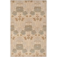 Hand-Tufted Mindy Floral New Zealand Wool Area Rug (5' x 8')