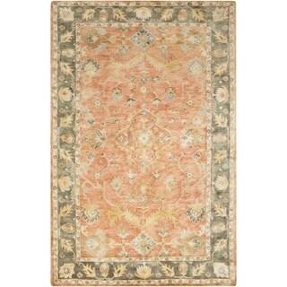 Hand-Tufted Morpeth Border Indoor Wool Rug (5' x 7'6)
