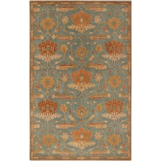 Hand-Tufted Myrna Floral New Zealand Wool Rug (5' x 8')