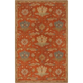 Hand-Tufted Naomi Floral New Zealand Wool Rug (5' x 8')