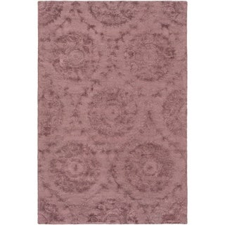 Hand-Tufted Spilsby Polka Dots Viscose Area Rug - 6' x 9'