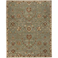 Hand-Tufted Reeves Transitional Wool Area Rug - 5' x 7'9""