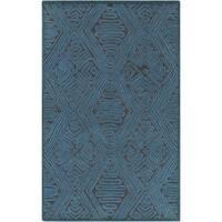 """Hand-Woven Oldbury Tax tured Indoor Wool Area Rug - 5' x 7'6"""""""