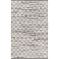 """Hand-Woven Raunds Distressed Hair On Hide Area Rug - 5' x 7'6"""""""