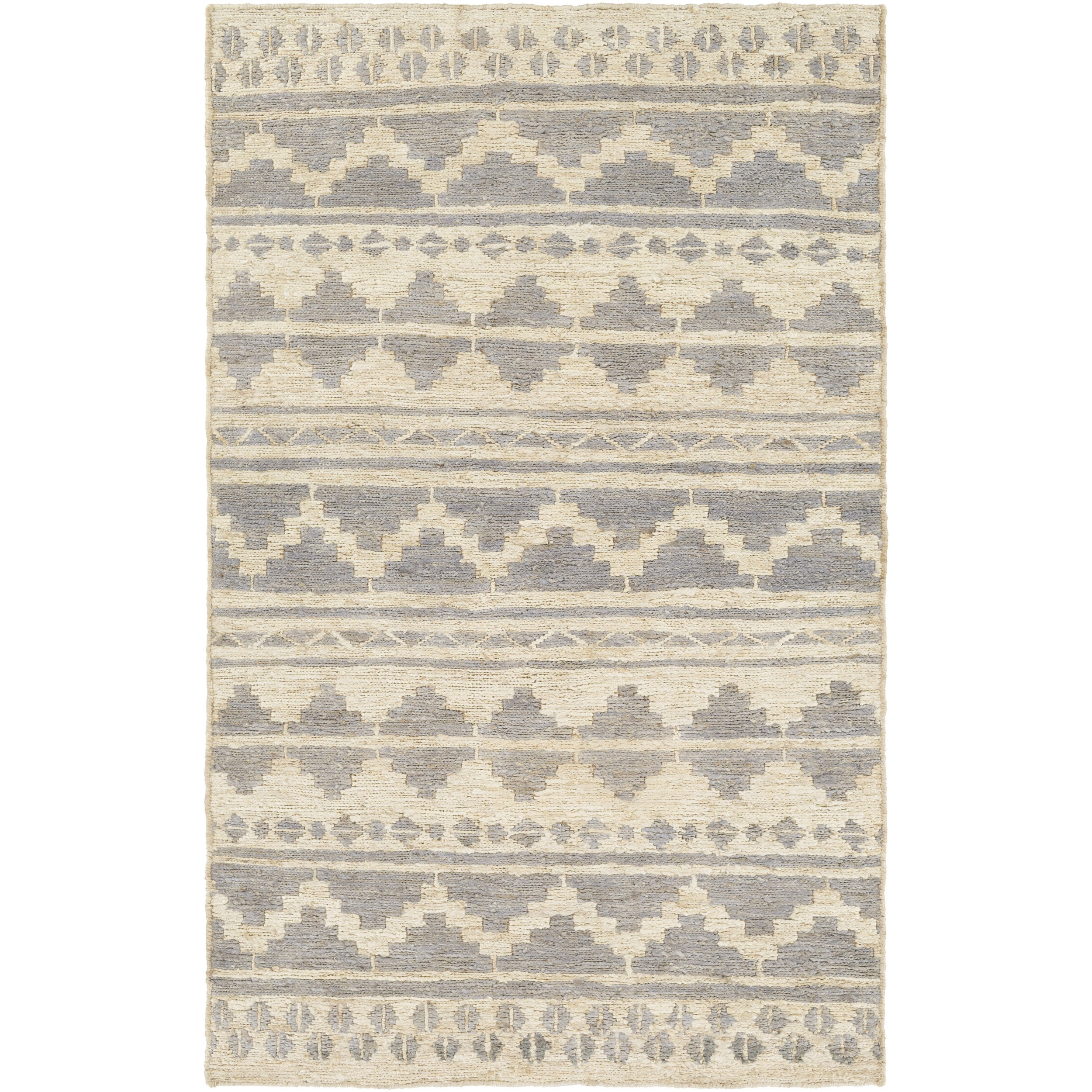 Hand-Woven Surrey Chevron Indoor Jute Area Rug (5' x 8')