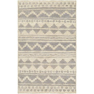 Hand-Woven Surrey Chevron Indoor Jute Area Rug (5' x 8') - Thumbnail 0