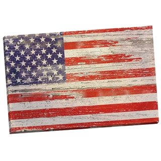 Portfolio Canvas Decor Sharon Marston American Flag Distressed I 24x36 Wrapped Canvas Wall Art