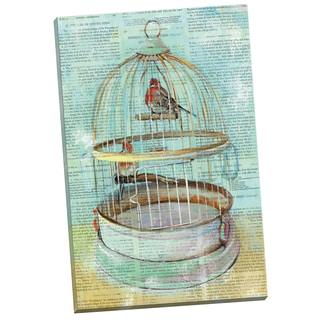 Portfolio Canvas Decor Elinor Luna Birdcage Dictionary I (version 2) 24x36 Wrapped/Stretched Canvas Wall Art
