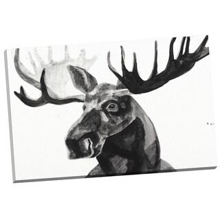 Portfolio Canvas Decor Ben Gordon Watercolor Moose 24x36 Wrapped/Stretched Canvas Wall Art