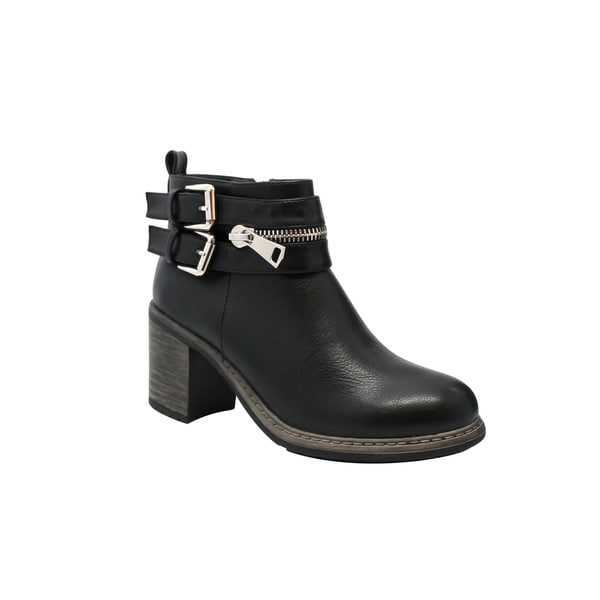 Olivia Miller Baxter Women's ... Chunky Heel Ankle Boots TWoGO