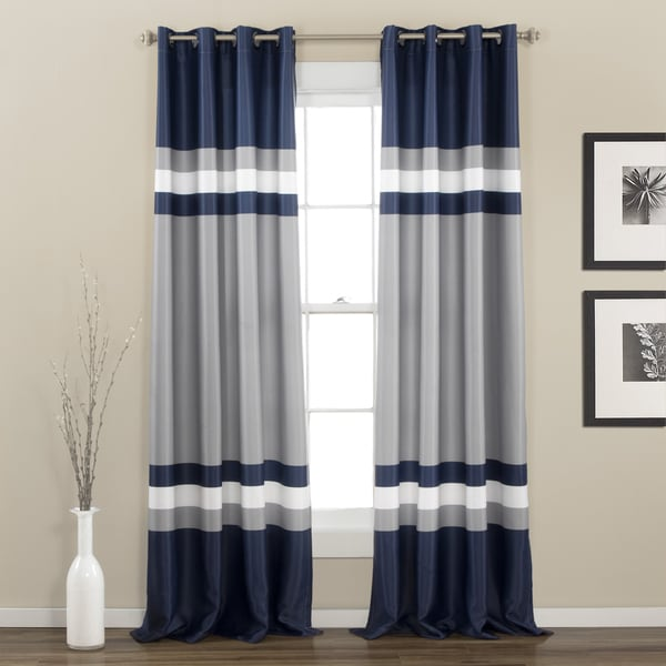 Lush Decor Alexander Stripe Room Darkening Window Panel