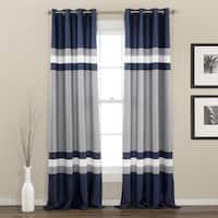 Lush Decor Alexander Stripe Room Darkening Curtain Panel Pair - 52 x 84