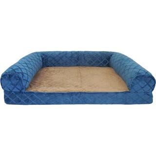 Orthopedic Diamond Embossed Mink Rectangle Bolster Pet Bed