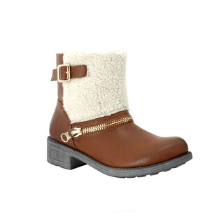 Olivia Miller 'Beekman' Front Sherpa Buckle Zip Short Boots
