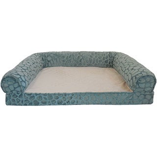 Orthopedic Pebble Embossed Mink Rectangle Bolster Pet Bed