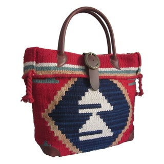 Amerileather Borka Geometric Print Handbag