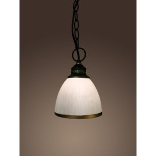 Sherah 1-light White Glass 6-inch Edison Pendant with Bulb