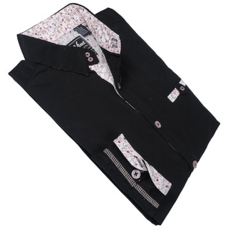Da Vinci Men's Black 'Milhouse' Shirt
