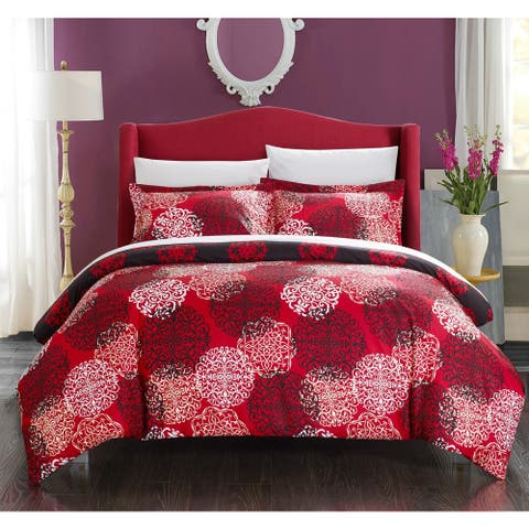 Chic Home 3-piece Justino Boho Inspired Reversible Print Duvet Cover Set