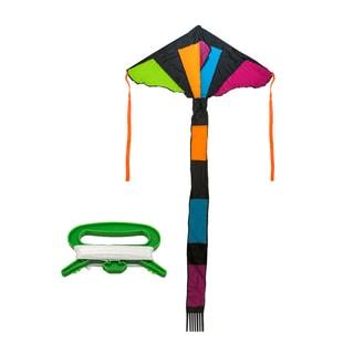 Matney Rainbow Sparkler Fly 46-inch Hi Delta Kite